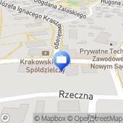 Mapa Multibank. Oddział Bankowości Detalicznej BRE Bank S.A. Nowy Sącz, Polska