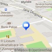 Mapa PKO Bank Polski. Bankomat Nowy Sącz, Polska