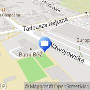 Mapa Bank Gospodarki Żywnościowej S.A. Oddział Nowy Sącz, Polska