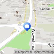 Mapa Bank Spółdzielczy w Wyszkowie. Oddział Serock, Polska