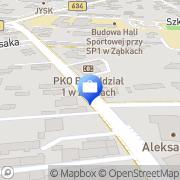 Mapa PKO Bank Polski. Bankomat Ząbki, Polska