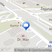 Mapa PKO Bank Polski. Bankomat Warszawa, Polska