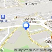 Mapa PKO Bank Polski. Bankomat Dębica, Polska