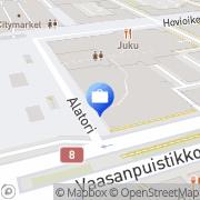 Kartta Ålandsbanken Abp Vaasa, Suomi
