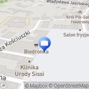 Mapa Multibank. Oddział Bankowości Detalicznej BRE Bank S.A. Tarnobrzeg, Polska