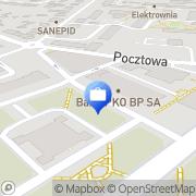 Mapa PKO Bank Polski. Bankomat Ostrów Mazowiecka, Polska