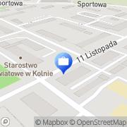Mapa Bank Spółdzielczy. I i III Punkt kasowy Kolno, Polska