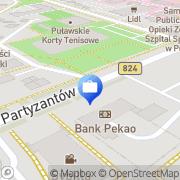 Mapa PKO Bank Polski. Bankomat Puławy, Polska