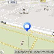 Mapa PKO Bank Polski. Bankomat Stalowa Wola, Polska