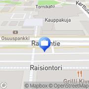 Kartta Pohjola Raision asiakaspalvelutoimisto Raisio, Suomi