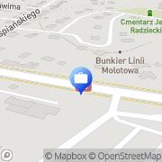 Mapa PKO Bank Polski. Bankomat Załuż, Polska