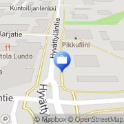 Kartta Liedon Säästöpankki, Pääkonttori Lieto, Suomi