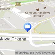 Mapa PKO Bank Polski. Bankomat Lublin, Polska