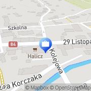 Mapa PKO Bank Polski. Bankomat Ustrzyki Dolne, Polska