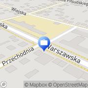 Mapa Bank Spółdzielczy. Punkt kasowy nr 1 Międzyrzec Podlaski, Polska