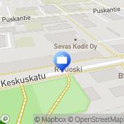 Kartta Tapiola-ryhmä Seinäjoki, Suomi