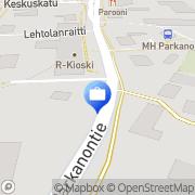 Kartta Otto käteisauttomaatti Parkano, Suomi