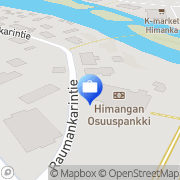 Kartta Pohjola Himangan palvelupiste Himanka, Suomi