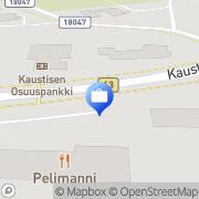 Kartta OP-Pohjola-ryhmä, Kaustisen Osuuspankki Kaustinen, Suomi