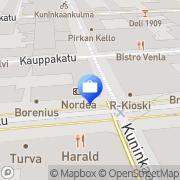 Kartta Nordea Rahoitus Suomi Oy Tampere, Suomi