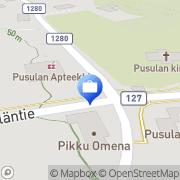 Kartta Otto. käteisautomaatti Pusula, Suomi