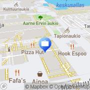 Kartta Aktia Pankki Oyj Espoon yrityskonttori Espoo, Suomi
