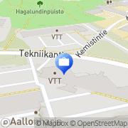 Kartta Insinööritoimisto Rakennuslaskenta NHL Espoo, Suomi