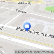 Kartta Ålandsbanken Abp, Munkkiniemi Helsinki, Suomi