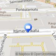 Kartta OP-Pohjola-ryhmä, Helsingin OP Pankki Oyj Ruoholahti Helsinki, Suomi