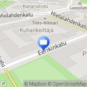 Kartta Credenza henkilöstökonsultointi Helsinki, Suomi