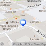 Kartta Otto käteisautomaatti Helsinki, Suomi
