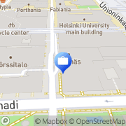 Kartta Nordea Securities Helsinki, Suomi