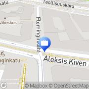 Kartta Nordea Treasury Helsinki, Suomi