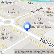 Kartta OP-Pohjola-ryhmä, Nivalan Osuuspankki Nivala, Suomi