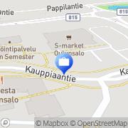 Kartta Pohjola Oulunsalon palvelupiste Oulunsalo, Suomi