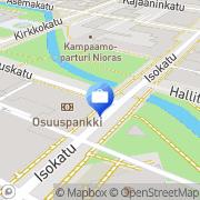 Kartta Pohjola Oulu Isokadun toimisto Oulu, Suomi