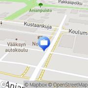 Kartta Otto. käteisautomaatti Vehko, Suomi