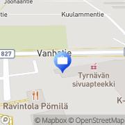 Kartta Pohjola Tyrnävän palvelupiste Tyrnävä, Suomi