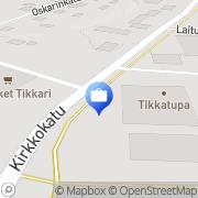 Kartta Otto. käteisautomaatti Tikkakoski, Suomi