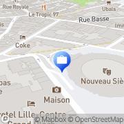 Carte de NATEXIS BANQUE POPULAIRE Lille, France