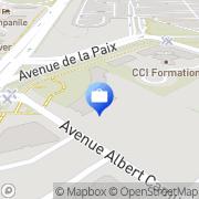 Carte de Banque Européenne du Crédit Mutuel Dijon Immobilier - BECM Dijon, France