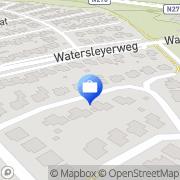 Kaart Scheringa Accountantskantoor Munstergeleen, Nederland