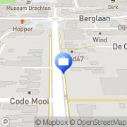 Kaart VluchtelingenWerk Fryslân locatie Opsterland Drachten, Nederland