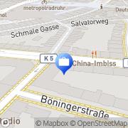 Karte HUK-COBURG Versicherung - Geschäftsstelle Duisburg Duisburg, Deutschland