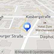 Karte Bernhard Peek Lingen, Deutschland