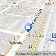 Karte DGB Rechtsschutz GmbH Offenburg, Deutschland