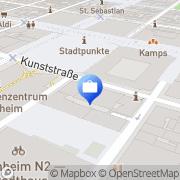 Karte Deutsche Bank Gruppe Mannheim Mannheim, Deutschland