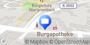 Karte Volksbank Bruchsal-Bretten eG, Filiale Obergrombach Bruchsal, Deutschland