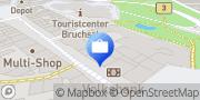 Karte Volksbank Bruchsal-Bretten eG, SB-Filiale Bruchsal-Kaiserpassage Bruchsal, Deutschland