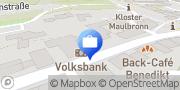 Karte Volksbank Bruchsal-Bretten eG, Filiale Maulbronn Maulbronn, Deutschland